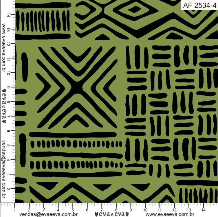 Tecido tricoline estampada da Eva e Eva - Coleção Africa  -  AF 2534-4