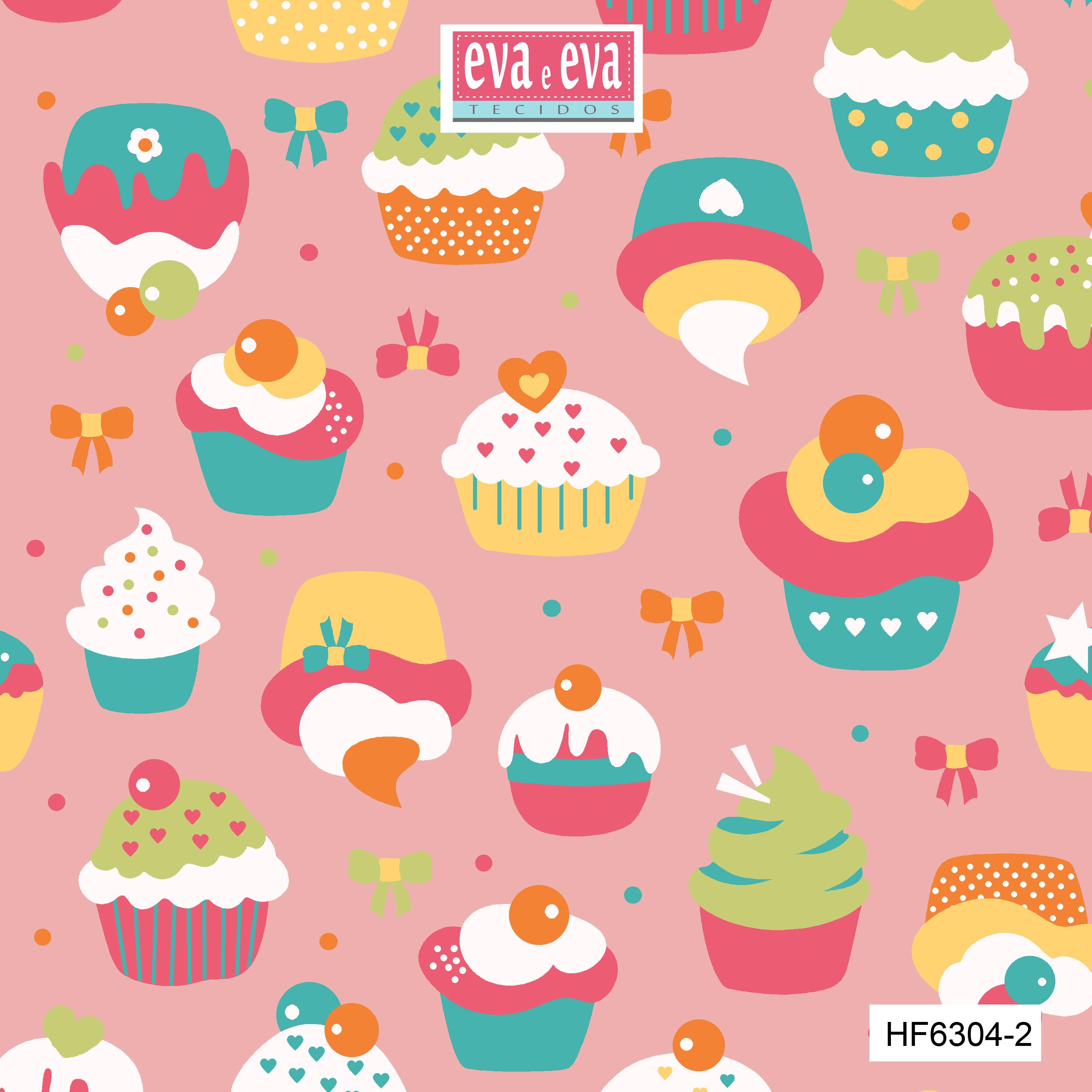 Tecido tricoline estampada da Eva e Eva - coleção Hora da Festa - HF6304-2