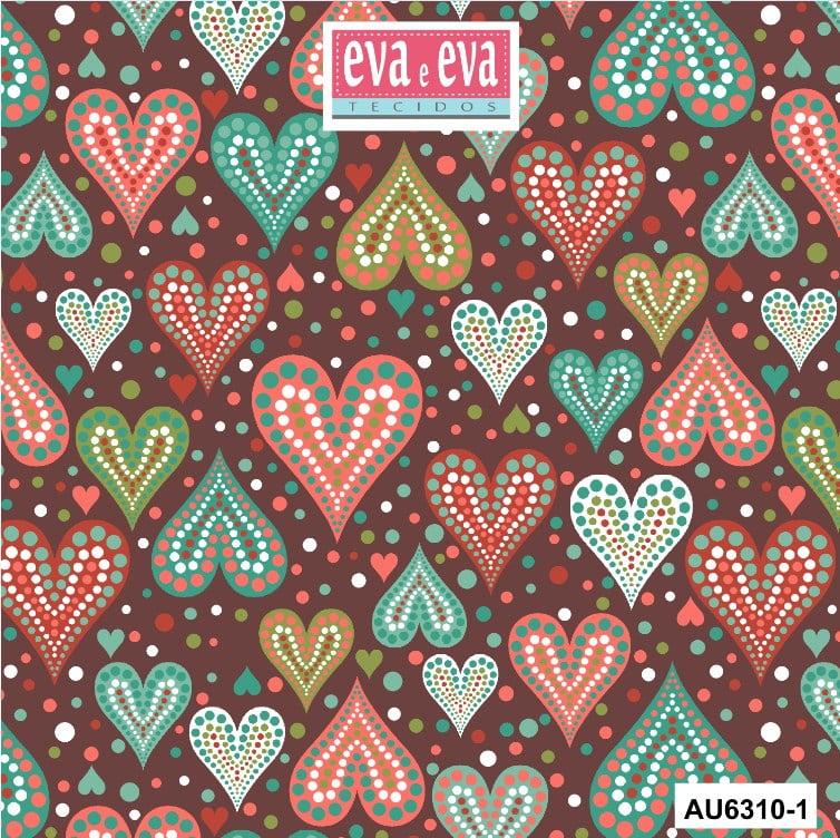Tecido tricoline estampada da Eva e Eva - coleção Amor Urbano - AU6310-1