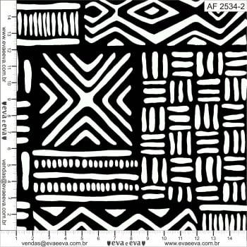 Tecido tricoline estampada da Eva e Eva - Coleção Africa  -  AF 2534-2