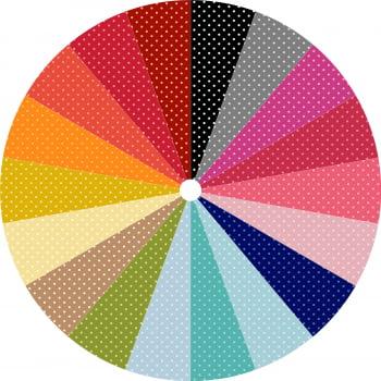 KIT 002 - Kit Poá tom tom - Tecido tricoline 100% algodão