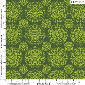 KIT-MANDALAY-1 - AZUL E VERDE - Tecido tricoline 100% algodão - 1 metro de cada estampa