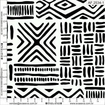 KIT-AFRICA - Tecido tricoline 100% algodão - 1 metro de cada estampa