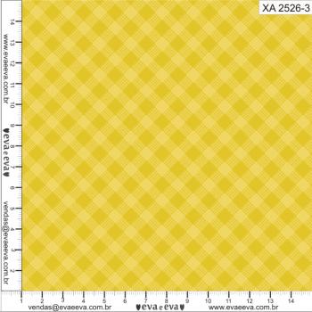 XA2526-3 - TRICOLINE 100% ALGODÃO - Coleção Xadrez