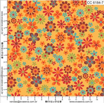CC6184-7 - tecido tricoline estampado larg.1,50 - Coleção Cocoricó