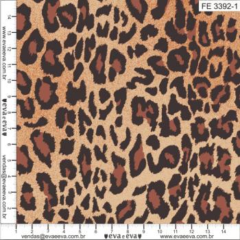 FE3392-1 - tecido tricoline estampado larg.1,50 - Coleção Feras