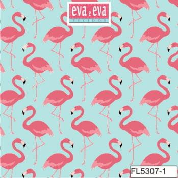 FL5307-1 - tecido tricoline estampado larg.1,50 - Coleção Flamingo