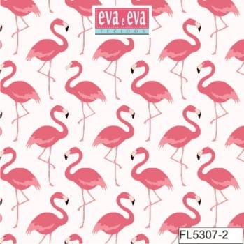 FL5307-2 - tecido tricoline estampado larg.1,50 - Coleção Flamingo