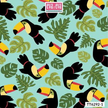 TT6292-1 - tecido tricoline estampado larg.1,50 - Coleção Tucano Tropical
