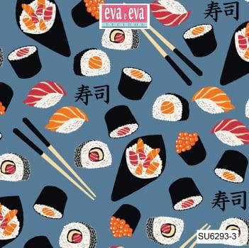 SU6293-3 - tecido tricoline estampado larg.1,50 - Coleção Sushi Bar