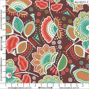 AU6311-1 - tecido tricoline estampado larg.1,50 - Coleção Amor Urbano