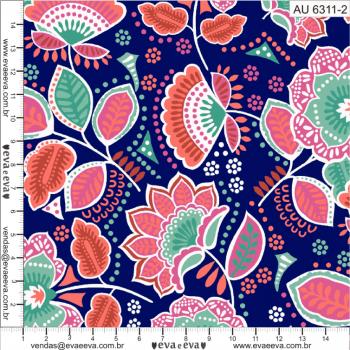 AU6311-2- tecido tricoline estampado larg.1,50 - Coleção Amor Urbano