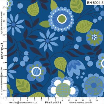 BH8004-3 - tecido tricoline estampado larg.1,50 - Coleção Classic Blue