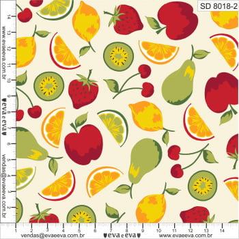 SD8018-2M-TRICOLINE 100% ALGODÃO - Coleção Salada de Fruta