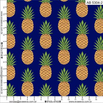 AB5304-2 - Tecido Tricoline Estampada Larg.1,50 - Coleção Abacaxi - Frutas