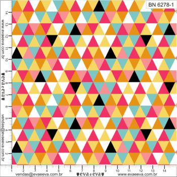 BN6278-1 - TRICOLINE 100% ALGODÃO - COLEÇÃO GEOMÉTRICO