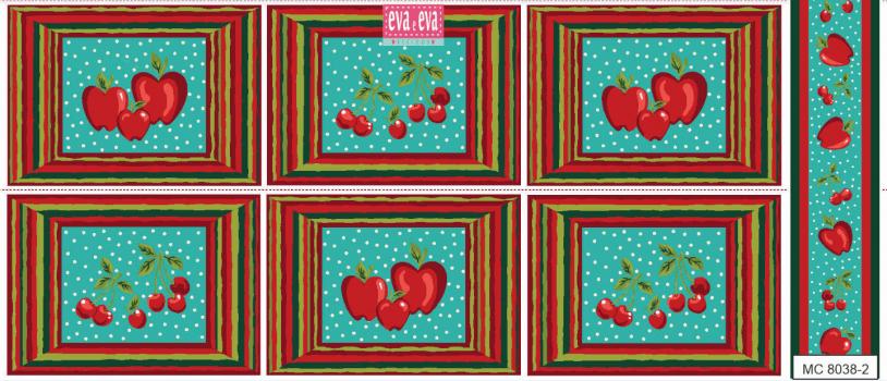 Tecido tricoline estampada da Eva e Eva - Coleção Jogo Americano - MC8038-2