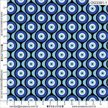 OG3391-1-TRICOLINE 100% ALGODÃO - Coleção Olho Grego